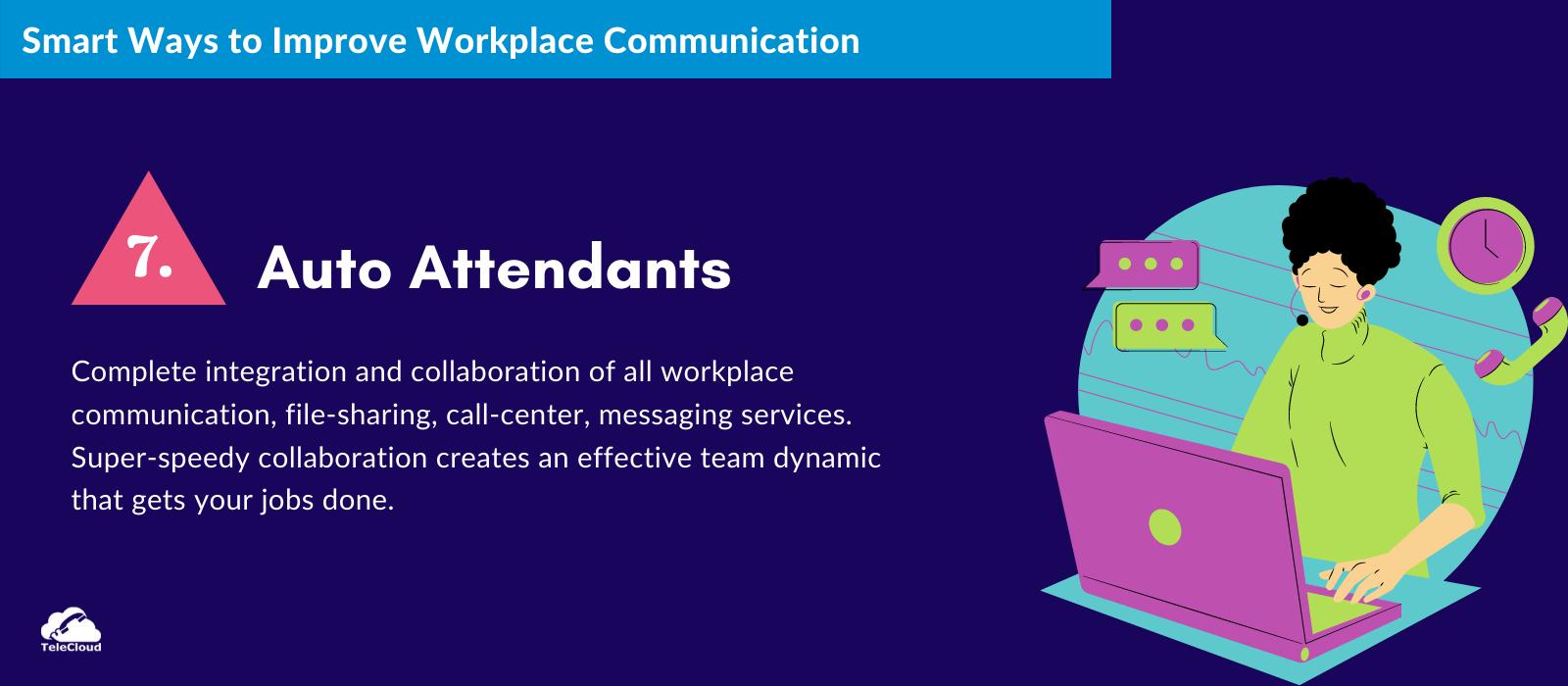 Auto Attendants to improve business communication - TeleCloud