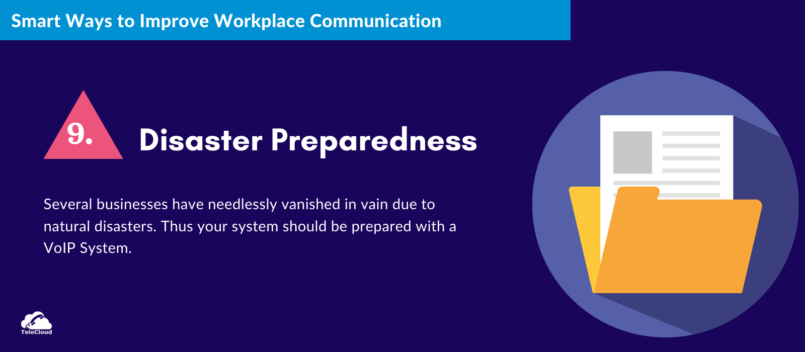 Disaster Preparedness to improve business communication - TeleCloud
