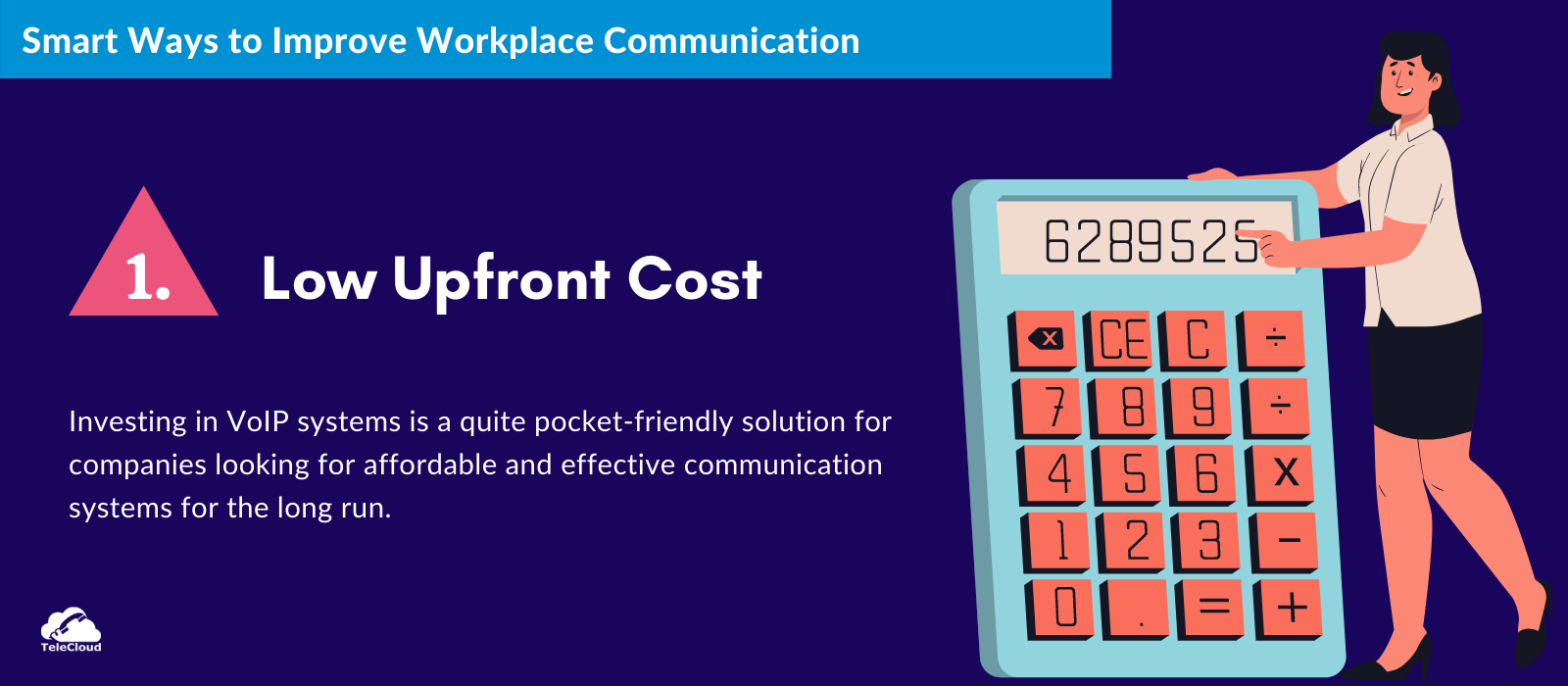 Low upfront cost to improve business communication - TeleCloud