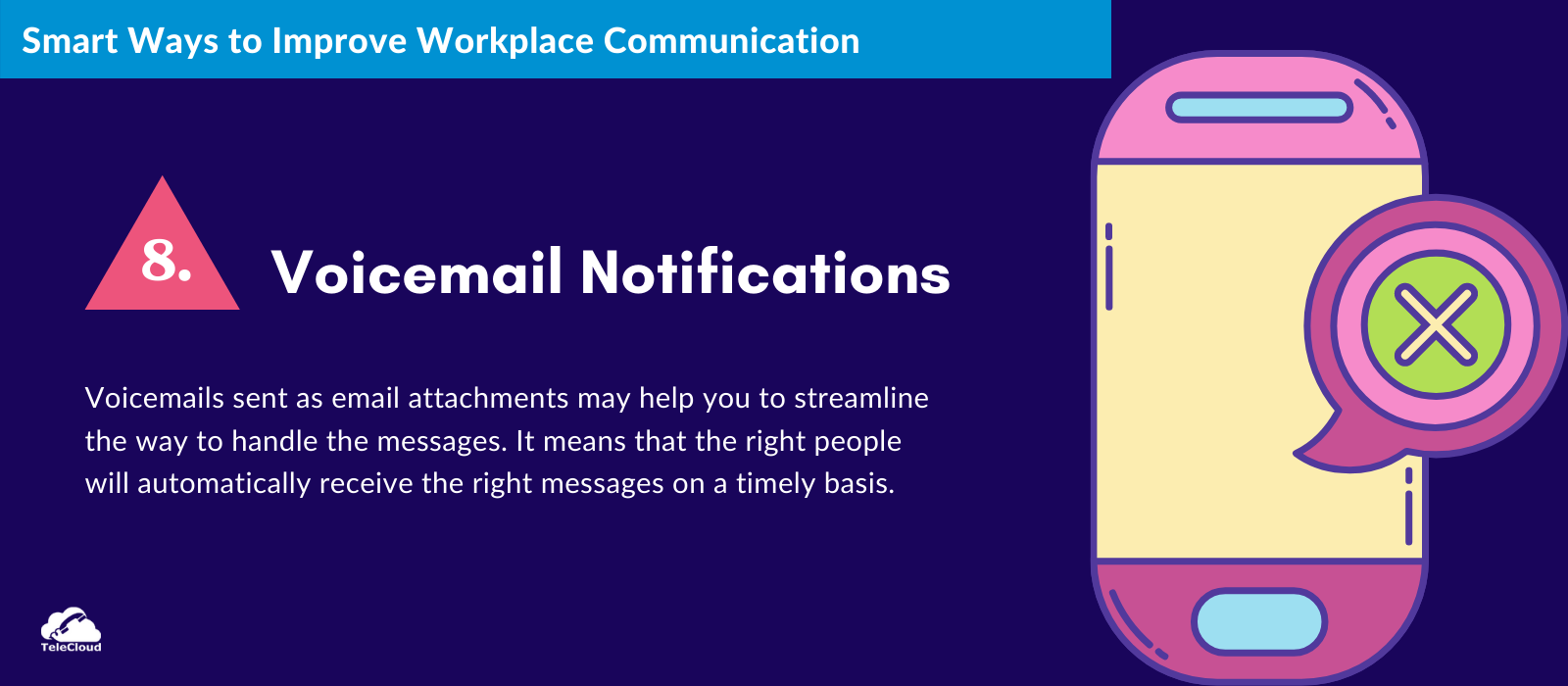 Voicemail Notifications to improve business communication - TeleCloud